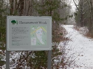 Entrance to Hassanamesit Woods