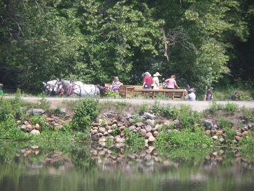 Hayride at the Blackstone River and CanalHeritage State Park 20th anniversary