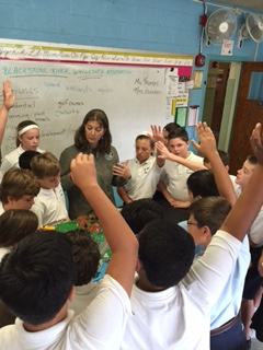 6th grade students at St. Mary's school in    Shrewsbury