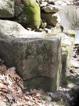 hinge stone for the bottom gate at Skull Rock Lock