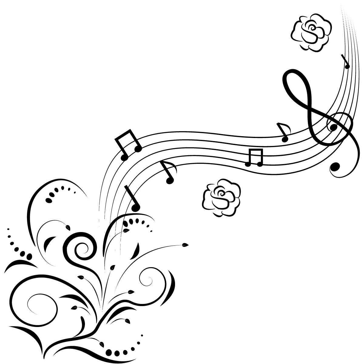 music-notes-flowers-wall-art