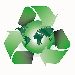 recycle symbol enveloping planet Earth