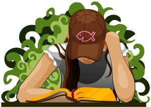 teen girl reading