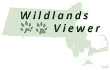 Massachusetts Department of Fish and Game Wildlands Viewer logo
