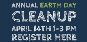 Register here for the Annual Earthdance Cleanup April 14 from 1 to 3pm