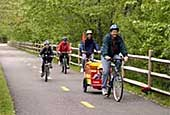 Cyclists on the Blackstone River Bikeway (photo courtesy of the National Park Service)